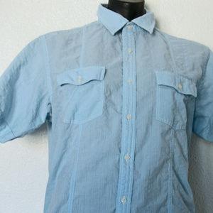 Tasso Elba, Men's, Dress Shirt, Blue Short Sleeves
